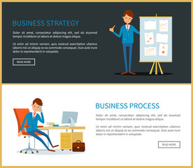 Business Strategy Presentation with Charts Data