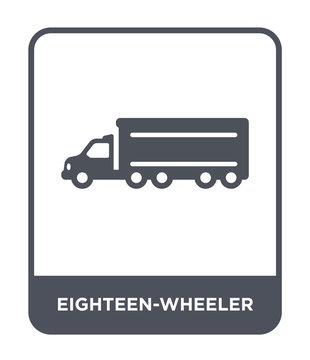 eighteen-wheeler icon vector