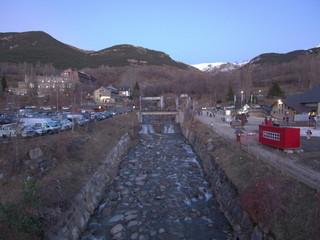 Aerial view of Cerler, Benasque. Ski area of Huesca. Spain