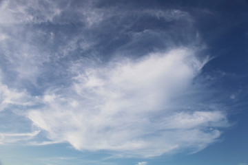 Vibrant clouds in daytime with deep and light blue sky