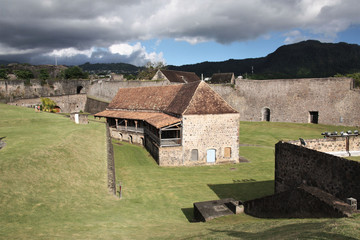 Guadeloupe, cours du Fort Delgres à Basse Terre