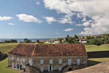 Guadeloupe, bâtiment principal du fort Delgres à Basse Terre
