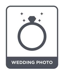 wedding photo icon vector
