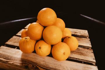 Orangenpyramide