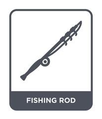 fishing rod icon vector