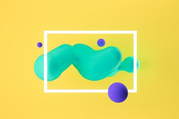 Abstract modern dynamic background. Futuristic 3d illustration.