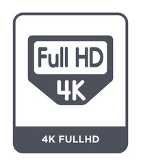4k fullhd icon vector
