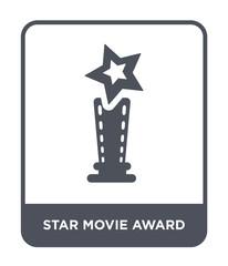 star movie award icon vector