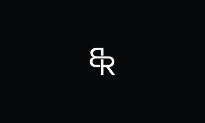 LETTER B AND R LOGO WITH NEGATIVE SPACE EFFECT FOR LOGO DESIGN OR ILLUSTRATION USE
