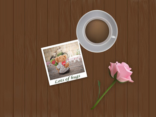 Photo frame with picture