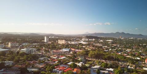 Panorama Managua cityscape