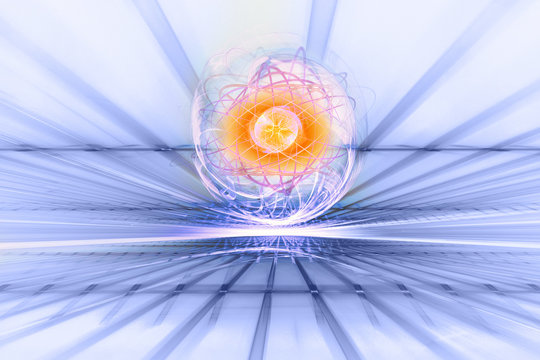atomic energy, illustration of nuclear reactions