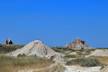 Afternoon view from Badlands National Park in South Dakota