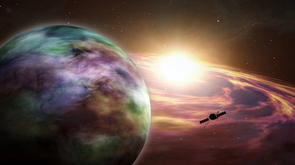 Space probe exoplanet exploration