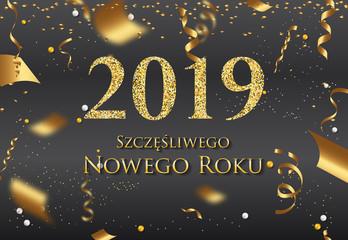 Polish Happy New Year greeting card - New Year 2019