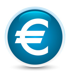 Euro sign icon special prime blue round button
