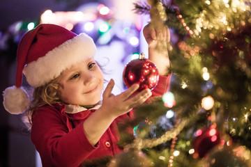 little kids in christmas