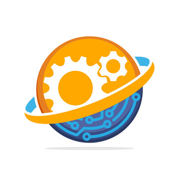 Vector illustration icon with an operational working concept that integrates advanced technology systems