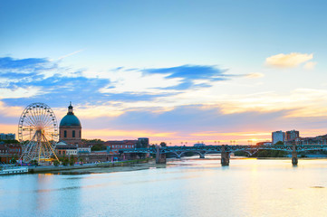 Fototapete - Toulouse landmark river Garone  France