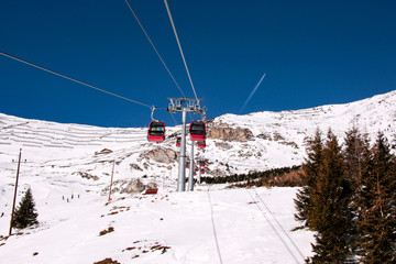 Winter landscape in sunny tyrol Austria