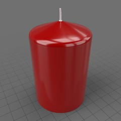 Small red pillar candle
