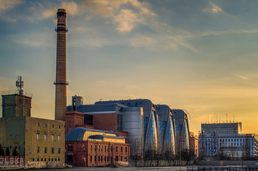New city center of Lodz, Poland