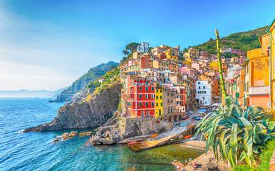 Wall Mural - Riomaggiore, a coastal village in Cinque Terre, Italy