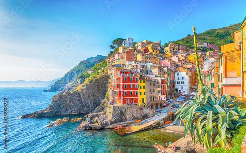 Wall mural Riomaggiore, a coastal village in Cinque Terre, Italy