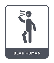 blah human icon vector