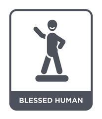 blessed human icon vector