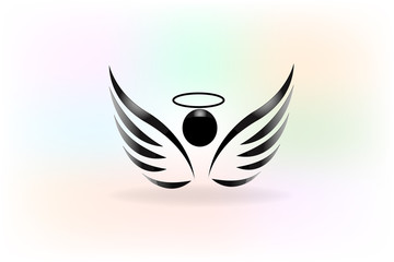 Logo angel wings logo vector