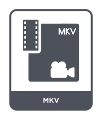 mkv icon vector