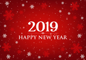 Happy New Year 2019 card.