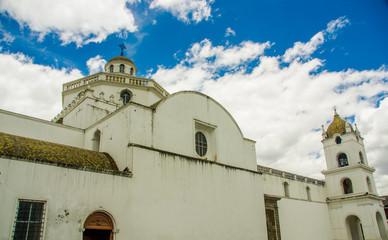Outdor view of la merced church in latacunga, Ecuador