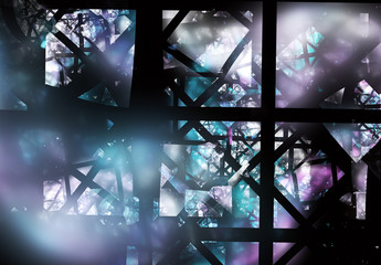 Abstract color dynamic background with lighting effect. Fractal art