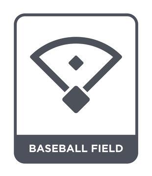 baseball field icon vector