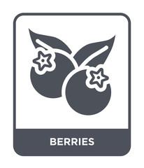berries icon vector