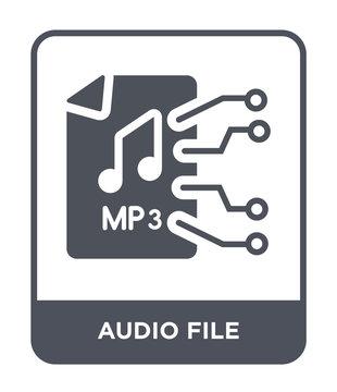 audio file icon vector