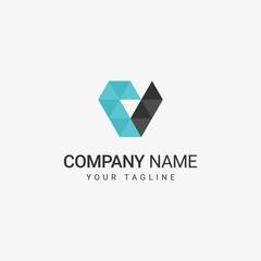 Geometric V Logo