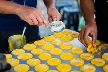 Malaysian tokiyoo pancakes on market
