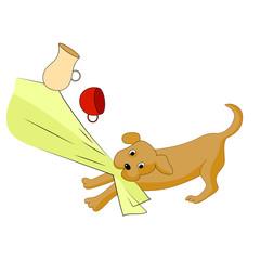 Bad puppy. Vector image.