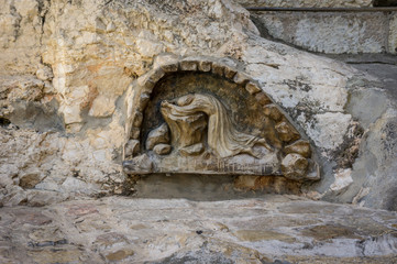 The rock of agony in Jerusalem, Israel.