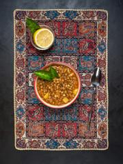 Adasi, Persian Lentil Stew. Arabic cuisine.