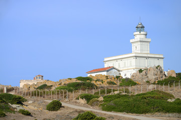 Lighthouse at Capo Testa, Santa Teresa of Gallura, Sardinia, Italy