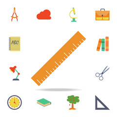 ruler colored icon. Detailed set of colored education icons. Premium graphic design. One of the collection icons for websites, web design, mobile app