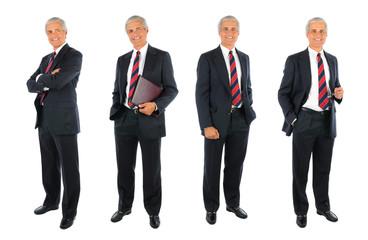 Mature Businessman collage - 4 images