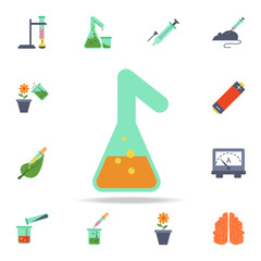 colored test tube icon. Detailed set of colored science icons. Premium graphic design. One of the collection icons for websites, web design, mobile app