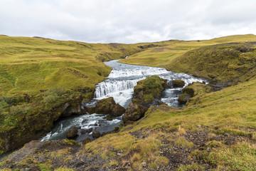 River in beautiful icelandic landscape near Skogafoss, Iceland
