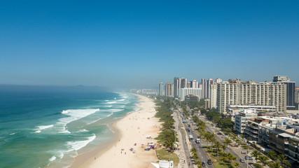 Aerial view of Barra da Tijuca beach