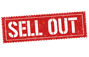 Sell out sign or stamp